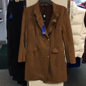 Nasty Gal Brown Blazer Dress Size Small NWT